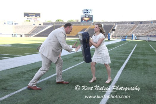 college football stadium weddings