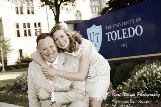 university of Toledo wedding reception photographers