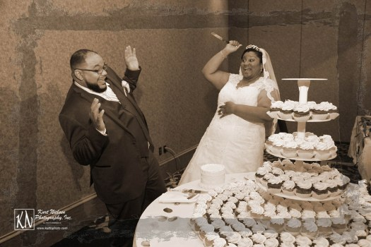 wedding cake cutting gone horribly wrong
