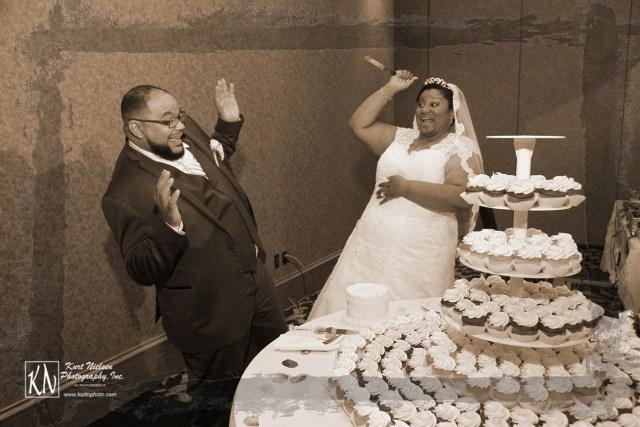 wedding cake cutting gone horribly wrong