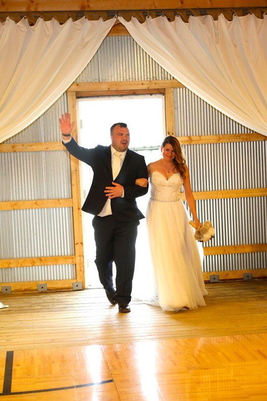 bride and groom's grand entrance