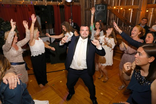 the groom on the dance floor