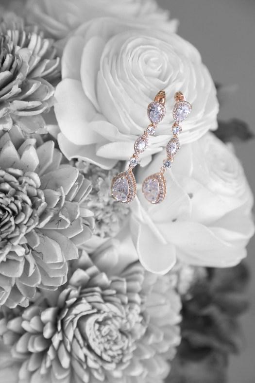 diamond drop earrings for the bride