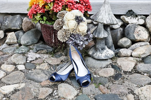 navy blue satin bridal shoes