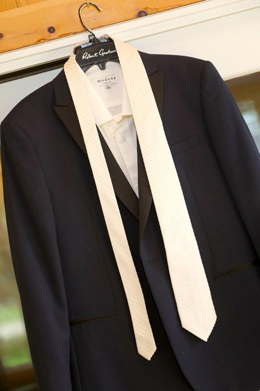 Ticknors Men's Clothier Navy Blue Tuxedo