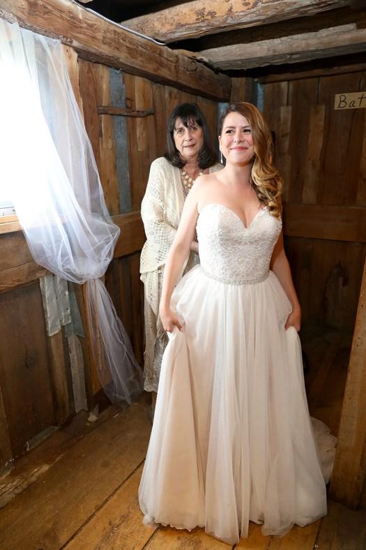 country chic wedding dress