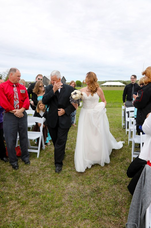 father of the bride is in tears