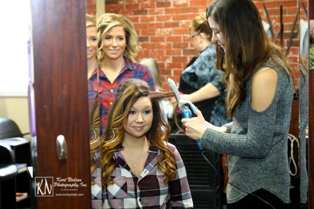hair salon for brides