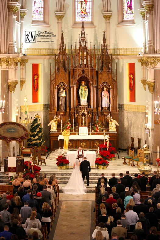 new year's eve wedding at Historic Church of St. Patrick