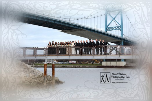 winter wedding in downtown Toledo