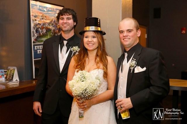 New Year's Eve wedding celebration