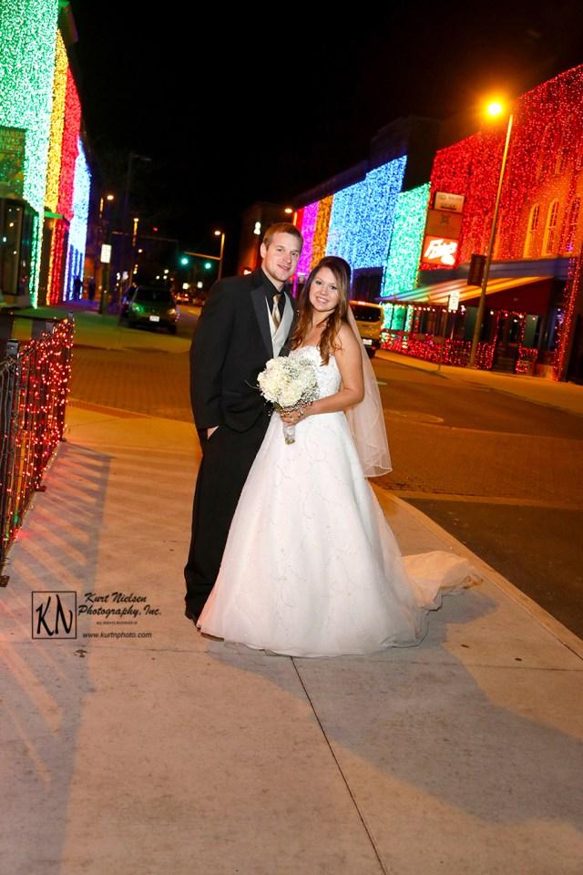 holiday wedding lighting