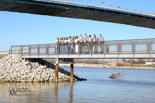 wedding party bridge