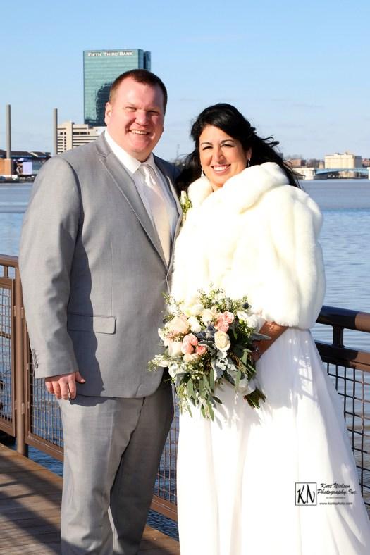 Toledo Winter Wedding Portrait of bride and groom