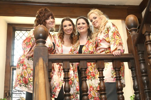 satin blossom bridesmaids robes from H and C Creations on Etsy