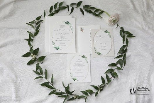 nature inspired wedding stationery by minted.com