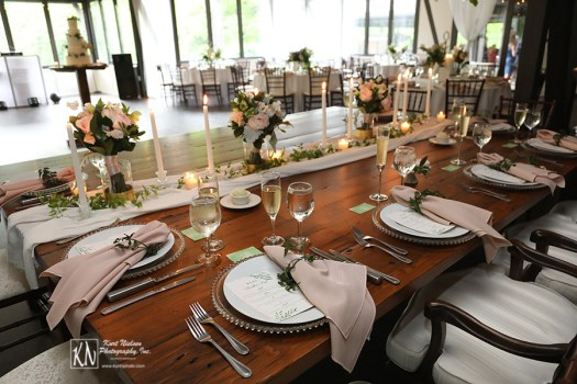 elegant garden wedding ideas for decorating the head table