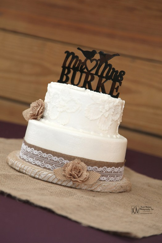 country chic wedding cake from cakes a ton with burlap and lace