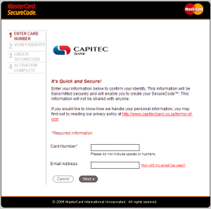 Enter your card number and email address