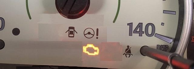 軽自動車のエンジン警告灯