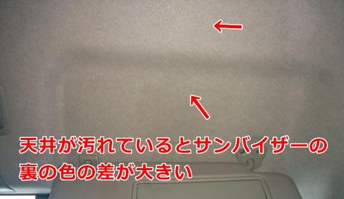 天井の汚れをチェック