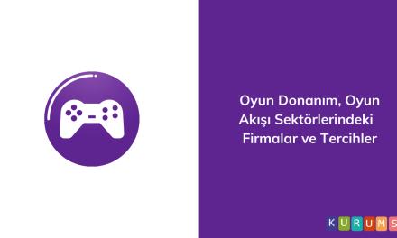 Oyun Donanım, Oyun Akışı Sektörlerindeki Firmalar ve Tercihler