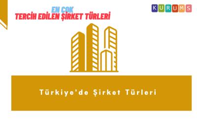 Türkiye'de Şirket Türleri Nelerdir, tercih edilen türler neler?