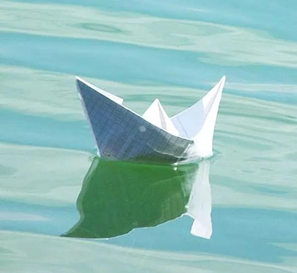 papírová lodička origami