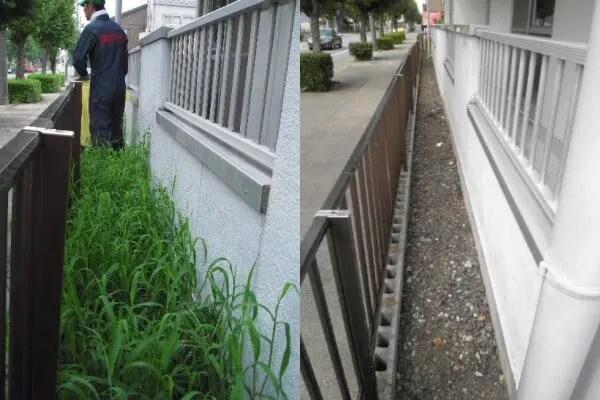 手作業が必要な狭いエリアには草引きによる除草が効果的 トリプルエス