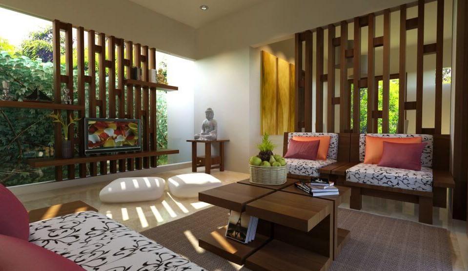 Desain Ruang Keluarga Sederhana Yang Nyaman Kusen Pintu Jendela