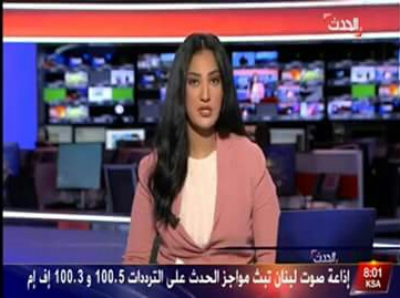 شاهد بالفيديو أول ظهور لزوجة وزير سوداني كمذيعة بقناة العربية
