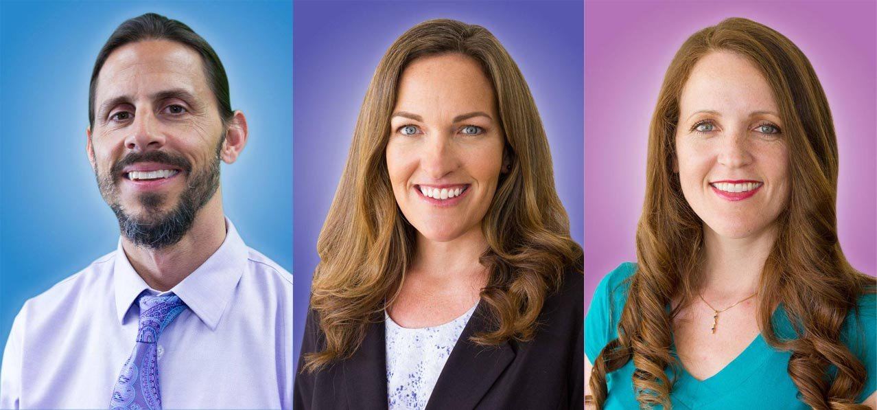SDUSD Teachers of the Year: (L-R) Ron Lancia, Brenda Mueller, Michelle Yepiz