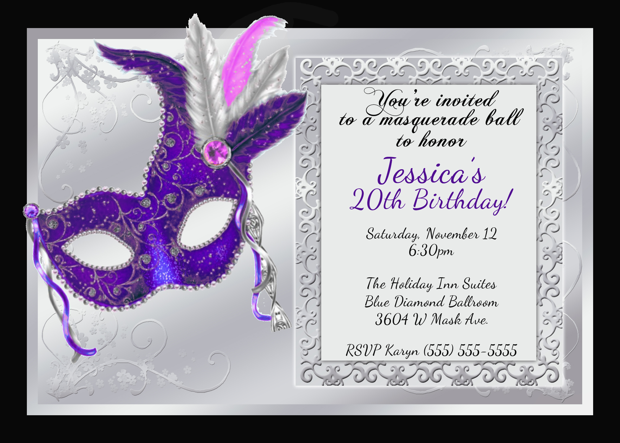 mardi gras and masquerade birthday