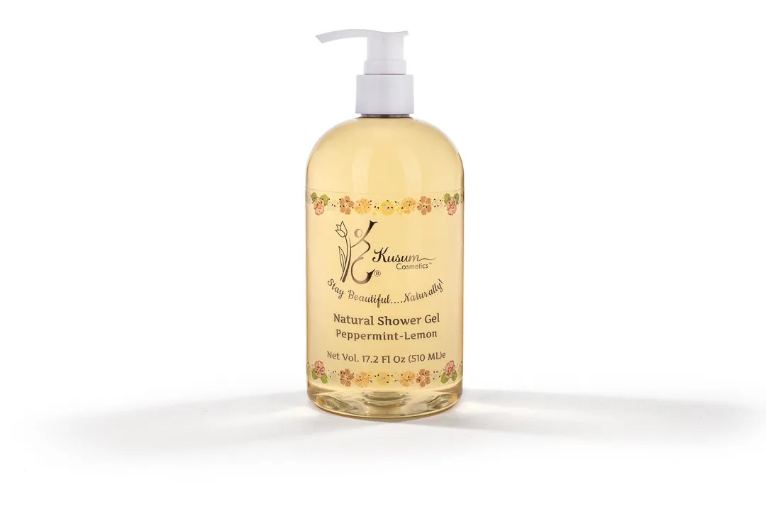 Peppermint-Lemon Natural Shower Gel