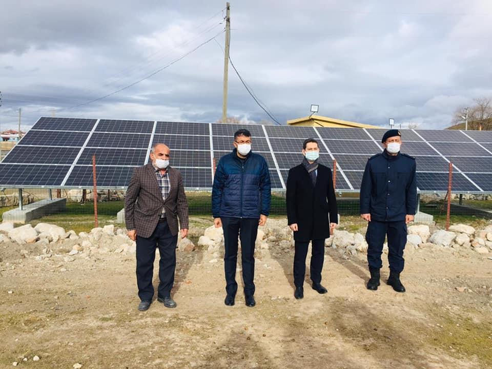 Köye kurulan güneş enerji sistemiyle elektrik kullanımında yüzde 50 tasarruf