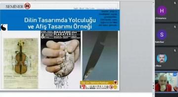 """DPÜ'de """"Dilin Tasarımda Yolculuğu ve Afiş Tasarımı Örneği"""" adlı seminer"""
