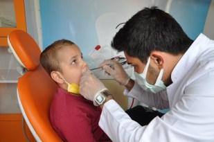 (ÖZEL) Özel eğitim öğrencilerine diş sağlığı taraması