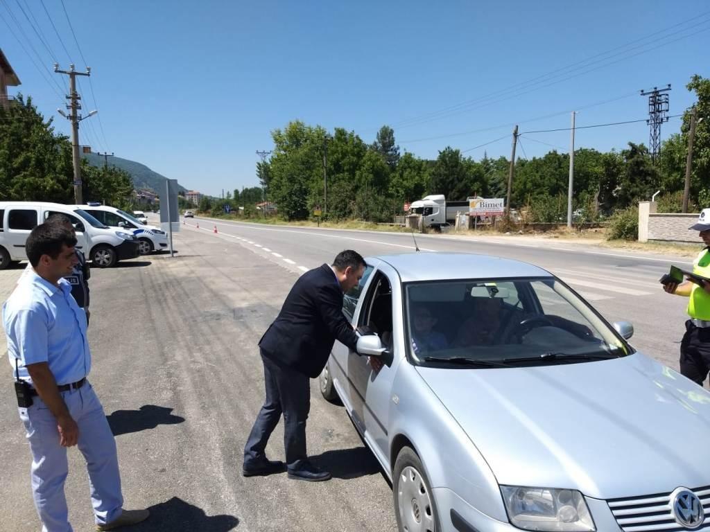 Simav'da 53 araç trafikten men edildi