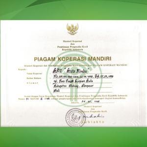 3.Juara II Koperasi Fungsional Tingkat Propinsi Bali (1991).