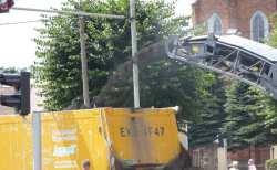 frezowanie asfaltu na ul. Jana Pawła II