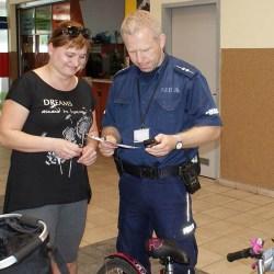 Policjanci znakowali rowery