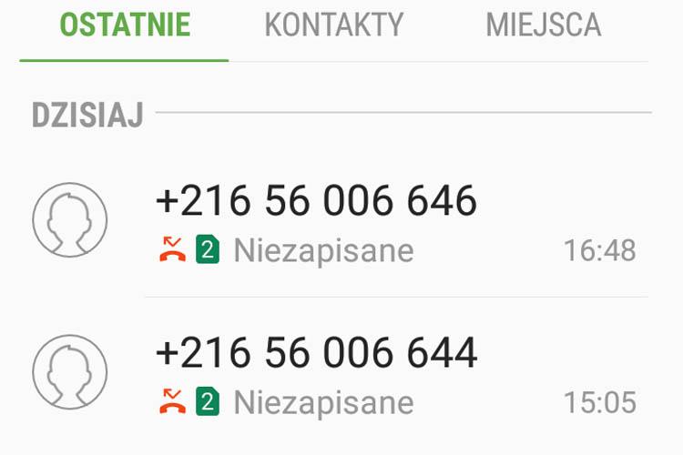 Tym razem telefony z Tunezji w Afryce. Uważajmy!
