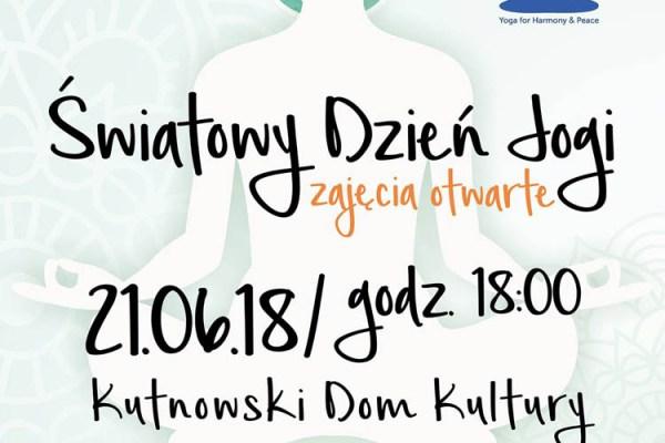Międzynarodowy Dzień Jogi – zajęcia otwarte w KDK
