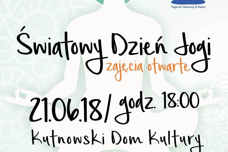 Międzynarodowy Dzień Jogi - zajęcia otwarte w KDK