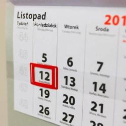 12 listopada będzie w tym roku dniem wolnym od pracy