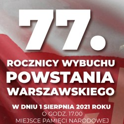 77 rocznica wybuchu powstania warszawskiego