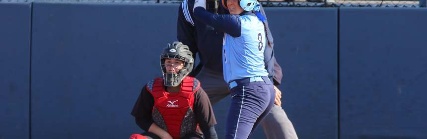 Standing in the batter's box, Dana Knapp awaits the next pitch. Photo Credit: Larry Levanti