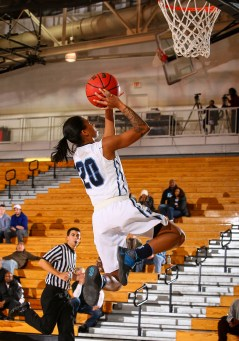 Sophomore Marajiah Bacon going for a lay-up. Photo Courtesy of Larry Levanti