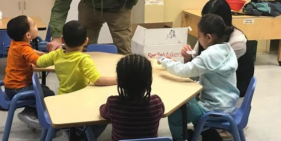 Kean students teaches children about good oral health  Photo Courtesy of Pre-physician assistant club