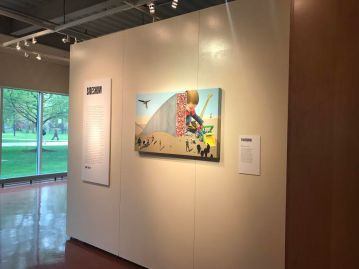 Embracing art to the fullest at the Karl & Helen Burger Gallery, One of Kean's galleries. Credit: Gail Fredricks